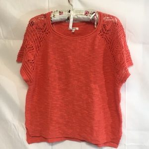 Maurices shirt sleeve salmon knit sweater new M
